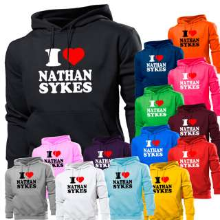 LOVE HEART NATHAN SYKES THE WANTED HOODIE HOODY WOMEN BOYS GIRLS