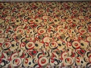 Red Black Retro Design Cotton Print Fabric bty