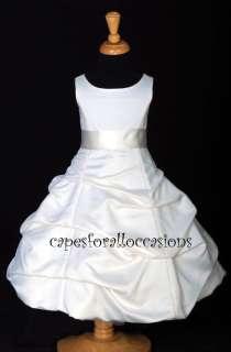PAGEANT HOLIDAY RECITAL WEDDING FLOWER GIRL DRESS IVORY 2 4 6 8 9 10