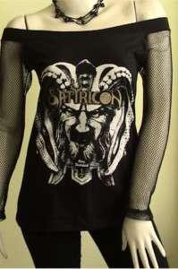 SATYRICON Black Metal Goth DIY Women Top Shirt size M