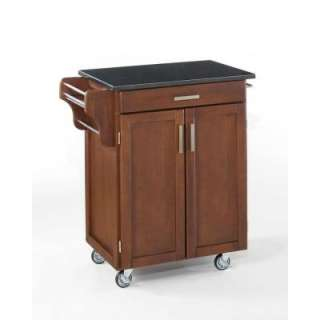Home Styles Create a Cart in Cherry with Black Granite Top 9001 0074