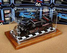24 scale Checkered & Wood Display Case for Diecast & Model Kit Car