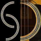 Rosette Herringbone Inlay Sticker Decal Acoustic Guitar items in