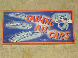 1940s Calling All Cars Board Game Parker Brothers Complete Excellent
