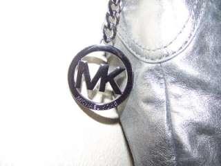 NWT Michael Kors Collette Gunmetal Large Shoulder Bag