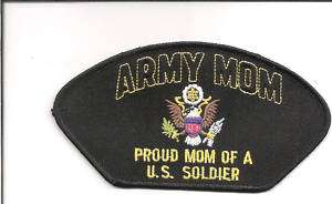 PROUD ARMY MOM OF A U.S. SOLDIER EMBROIDERED PATCH