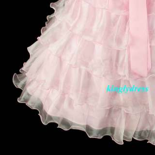 NEW Flower Girl Pageant Wedding Party Bridesmaid Dress Pink Wears Size