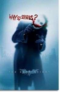 BATMAN DARK KNIGHT POSTER Why so Serious Heath Ledger