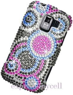 Diamante BLING BUBBLE Case Cover Straight Talk NET 10 LG OPTIMUS Q