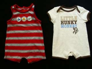Baby Boy 0 3 3 6 Months Spring Summer Romper One  Piece Clothes