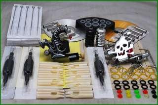 Tattoo Supply Kit 2 Machine Guns Grips Needle Set D55 9