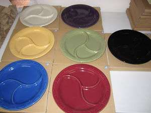 New Longaberger Woven Traditions Divided Plates