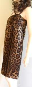 Dolce & Gabbana Brown leo pard print sleeveless dress