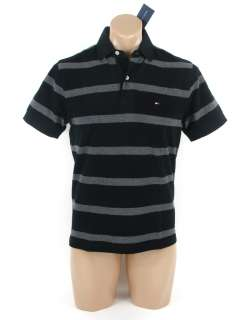 NEW NWT TOMMY HILFIGER MENS CLASSIC FIT SHORT SLEEVE STRIPED POLO