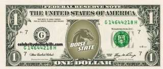 Boise State Broncos COLLEGE DOLLAR BILL UNCIRCULATED MINT US CURRENCY