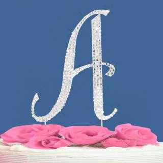 LETTER T   CRYSTALIZED WEDDING CAKE TOPPER MONOGRAM