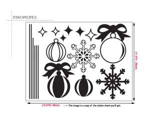Christmas Ornaments Home Decor Wall Decal Vinyl Sticker
