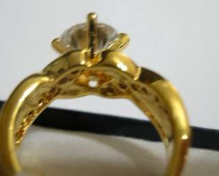 Russian CZs Gold EP, Womens Ring ENGAGEMENT COCKTAIL Size 4   10