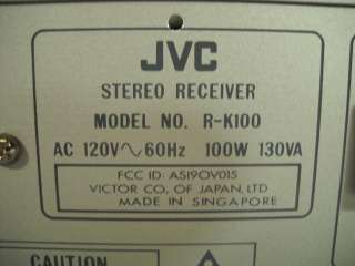 Vintage JVC Am Fm Stereo Receiver Model # R K100