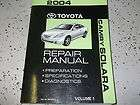 2004 Toyota CAMRY SOLARA ENGINE DIAGNOSTICS Service Shop Repair Manual