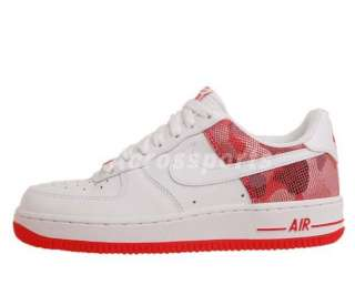 Nike Wmns Air Force 1 07 White Siren Red Camo 2012 Womens Casual Shoe