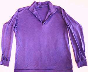 Patagonia Zip Collar Womens Long Sleeve Running Shirt Base Layer, Sz