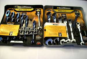 14pc GEARWRENCH FLEX HEAD RATCHETING RATCHET POLISHED WRENCH SET SAE