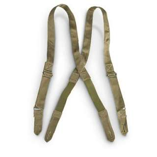 Olive Drab OD Military Button Suspenders (NEW) Paintball Hunting