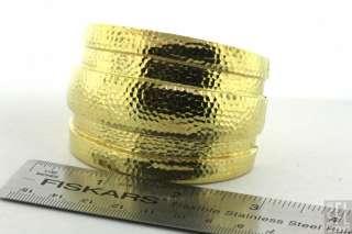 DAVID WEBB HEAVY VINTAGE 18K GOLD HAND HAMMERED HINGED EXTRA LARGE