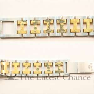 Mens Hermes Clipper Gold Plated and Stainless Steel Wristwatch Good