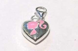 3D Heart PINK Barbie Ponytail Logo SP Clip on Charm