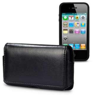 BLACK BELT POUCH + BLACK BUMPER CASE FOR IPHONE 4