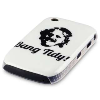 FOR BLACKBERRY CURVE 8520 / 9300 WHITE HARD BACK COVER CASE BANG TIDY