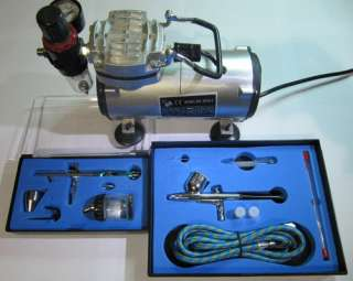 AIRBRUSH KIT + AIRBRUSH COMPRESSOR AIR BRUSH COMPRESSOR WITH 2