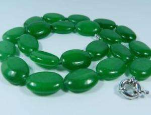 13x18mm Green Emerald Gemstones Beads Necklace 18