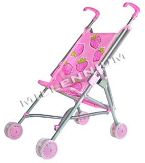 Pink Baby Doll Pram Buggy Pushchair Push Chair Stroller