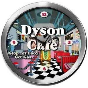 DYSON 14 Inch Cafe Metal Clock Quartz Movement: Kitchen