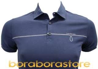 Polo uomo Calvin Klein c1p blu tg.S t shirt nuova coll.prim