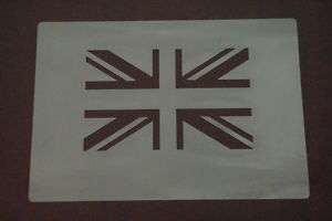 UNION JACK Stencil Airbrush Painting Game