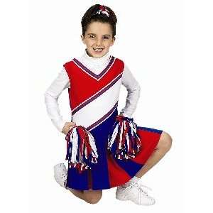 Jr Cheerleader Red/White/Blue Child Halloween Costume Size