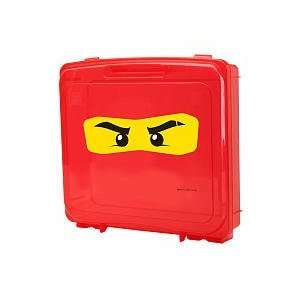 LEGO Ninjago Red Project Case with gray base plate: Toys