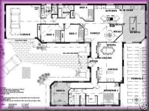 HOME CINEMA, Home Floor Plans,4 bedroom Rumpus Family CONSTRUCTION