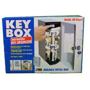 Motorized Locking Lighted Key Box Organizer Home Office