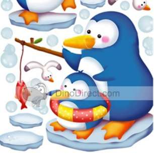 Wholesale Penguin Pattern Cartoon Waterproof Wall Sticker   DinoDirect