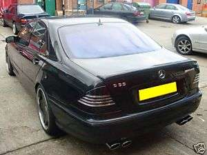 Mercedes W220 S Class Boot Spoiler AMG CARLSSON BRABUS