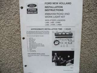 New Holland Skid Loaders Light Kit Installation manual