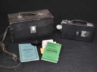 Vintage 1930s CINE KODAK Model K Movie Camera Kit Set