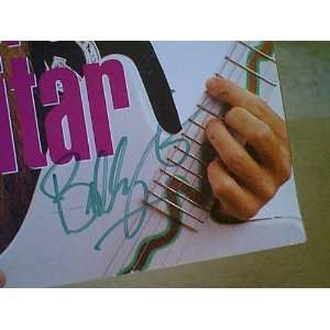 ZZ Z Z Top Billy Gibbons Musician Magazine 1988 Signed Autograph Color