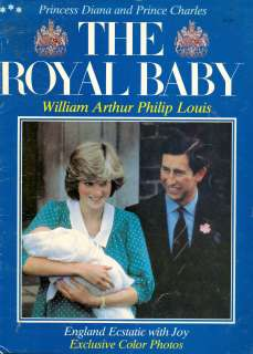Princess Diana RARE ROYAL BABY PRINCE WILLIAM BOOK PHOTOS RARE