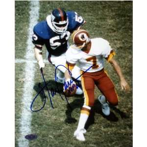 Harry Carson Autographed HOF About To Sack Theisman 8x10